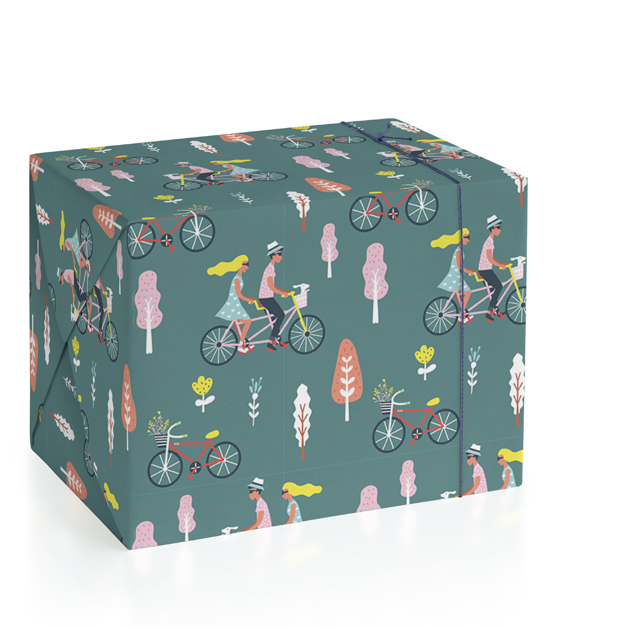 bicycle couple Wrapping Paper