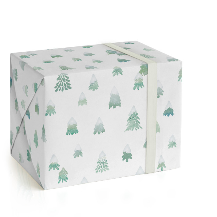 Frosted Trees Wrapping Paper