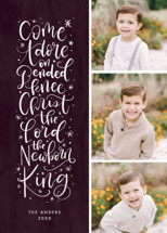 Come Adore On Bended Knee Grand Holiday Cards