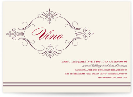 French Vintage Party Invitations