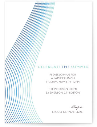 Glass Ribbons Party Invitations