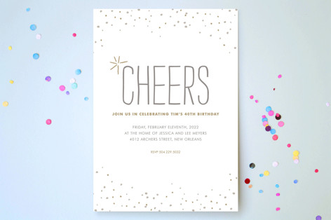 Rustic Sparkle Party Invitations