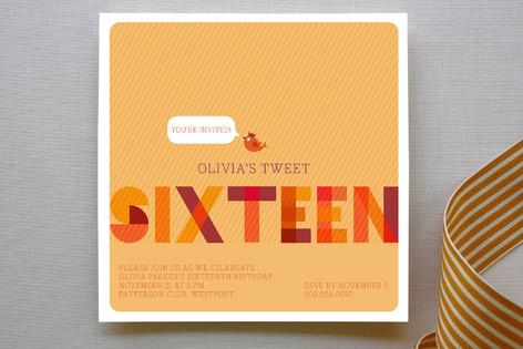 Tweet Sixteen Party Invitations