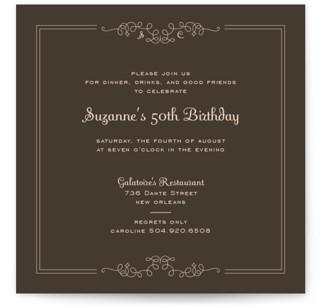 Curlique Party Invitations