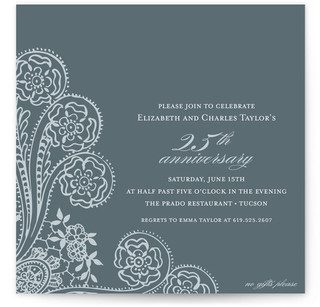 Anniversary Lace Party Invitations