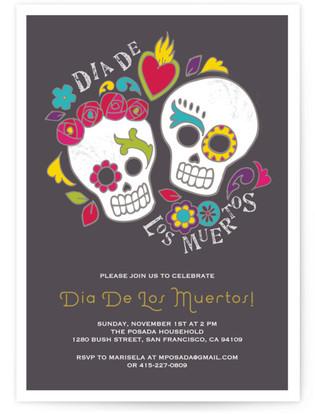 Dia de los Muertos Party Invitations
