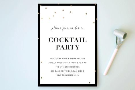 Gold Confetti Party Invitations