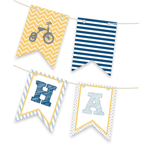 Oh Boy Bunting Banner Personalizable Bunting Banner