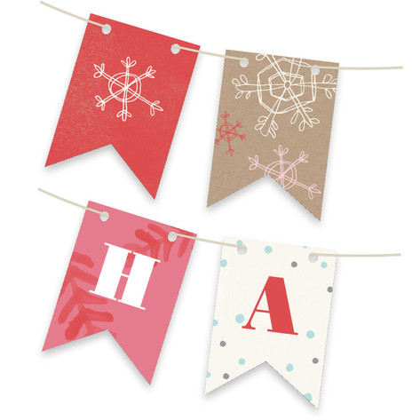 Krafted Winter Personalizable Bunting Banner