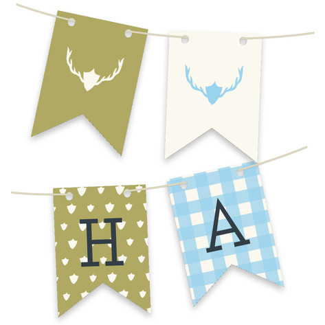 Fireside Feast Personalizable Bunting Banner