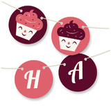 Sweet Cupcakes Personalizable Bunting Banners