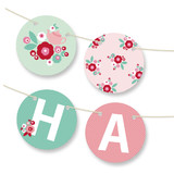 Retro Floral Garden Personalizable Bunting Banners