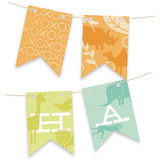 Zoo Menagerie Personalizable Bunting Banners