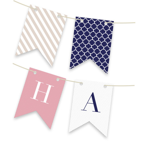 Preppy Personalizable Bunting Banner