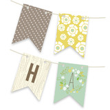 Wooded Blooms Personalizable Bunting Banners