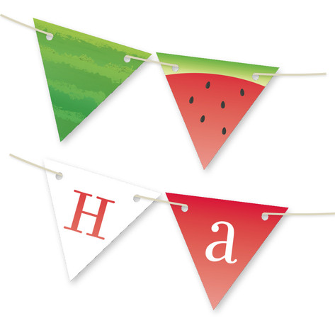 Watermelon Personalizable Bunting Banner