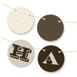 Sophisticated Chevron Personalizable Bunting Banners