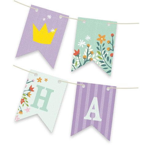 Princess Crown Personalizable Bunting Banner