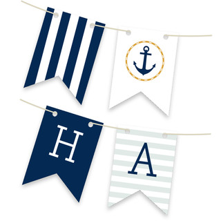 Nautical Personalizable Bunting Banner