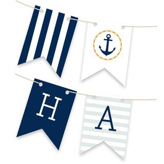 Nautical Personalizable Bunting Banner
