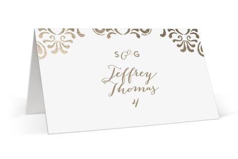 Black Tie Wedding Foil-Pressed Place Cards