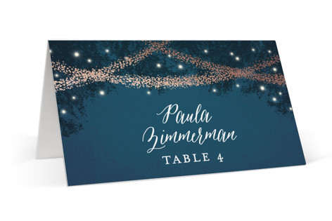 Strands Of Lights Foil-Pressed Place Cards