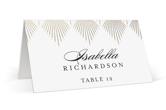 Deco Fan Border Foil-Pressed Place Cards