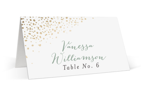 Dipped Feathers Foil-Pressed Place Cards