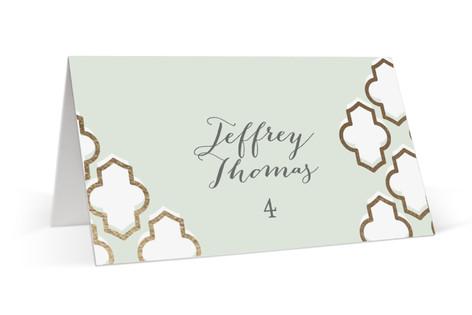 Foiled Arabesque Foil-Pressed Place Cards