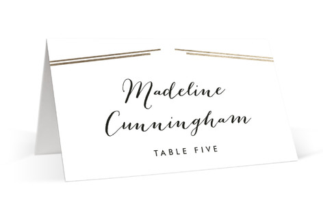 Opera Foil-Pressed Place Cards