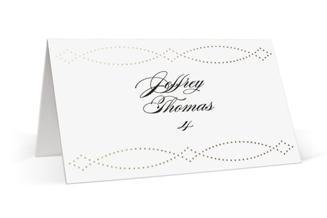 Savoy Foil-Pressed Place Cards