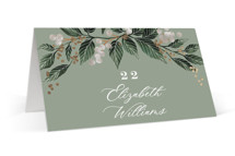 Vine and Berry Frame Foil-Pressed Place Cards