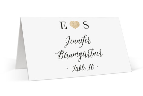 Arrow Frame Foil-Pressed Place Cards