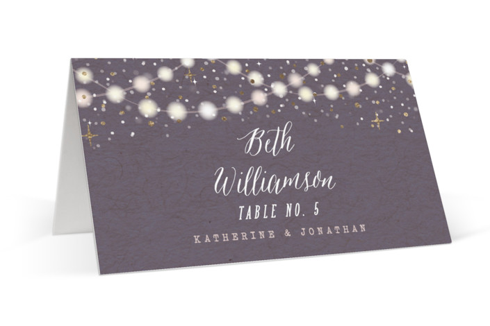 Garden Lights Foil-Pressed Place Cards
