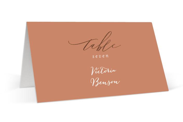 Over Monogram Foil-Pressed Place Cards