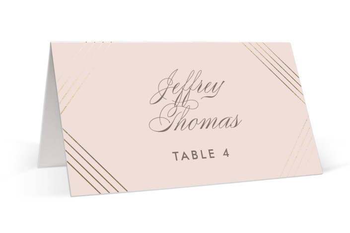 A Golden Age Foil-Pressed Place Cards