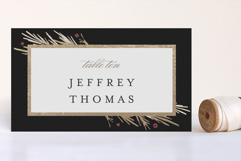 Winter Berry Foil-Pressed Place Cards
