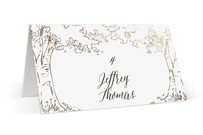 A Poem For The Trees Foil-Pressed Place Cards
