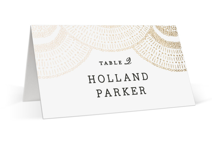 Deco Fringe Foil-Pressed Place Cards