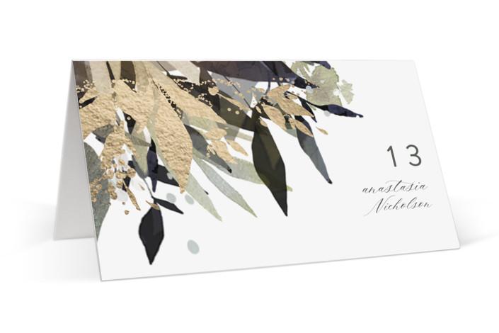 Flourishing Edge Foil-Pressed Place Cards