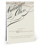 Winter Flourish Unique Wedding Programs