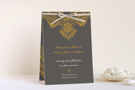 Spanish Lace Unique Wedding Programs