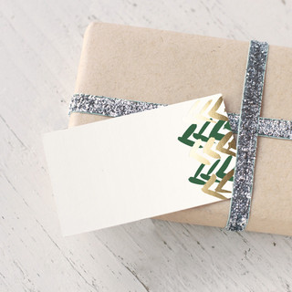 Chevron Foil-Pressed Gift Enclosure Cards