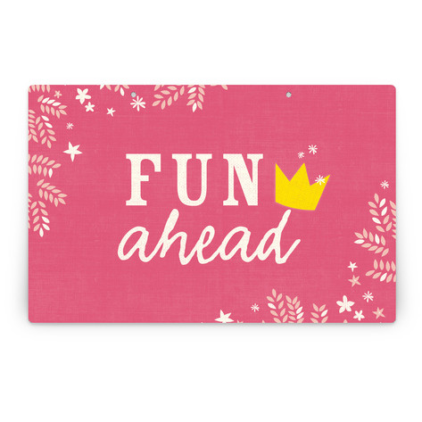 Princess Crown Personalizable Party Greeting Signs 2