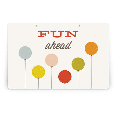 Colorful Balloons Personalizable Party Greeting Signs 2