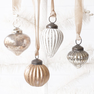 Vintage Metallic Glass Ornaments