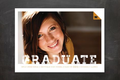 Patterned Graduate Graduation Announcements