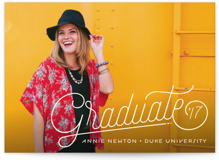 Lined Graduation Announcements