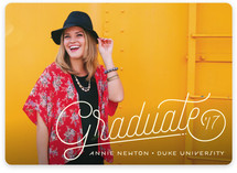 Lined Graduation Announcements