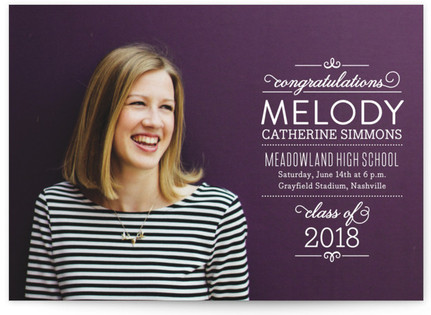 Sophisticated Stack Graduation Announcements